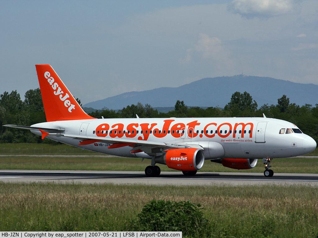 HB-JZN, 2005 Airbus A319-111 C/N 2387, landing on rwy 16
