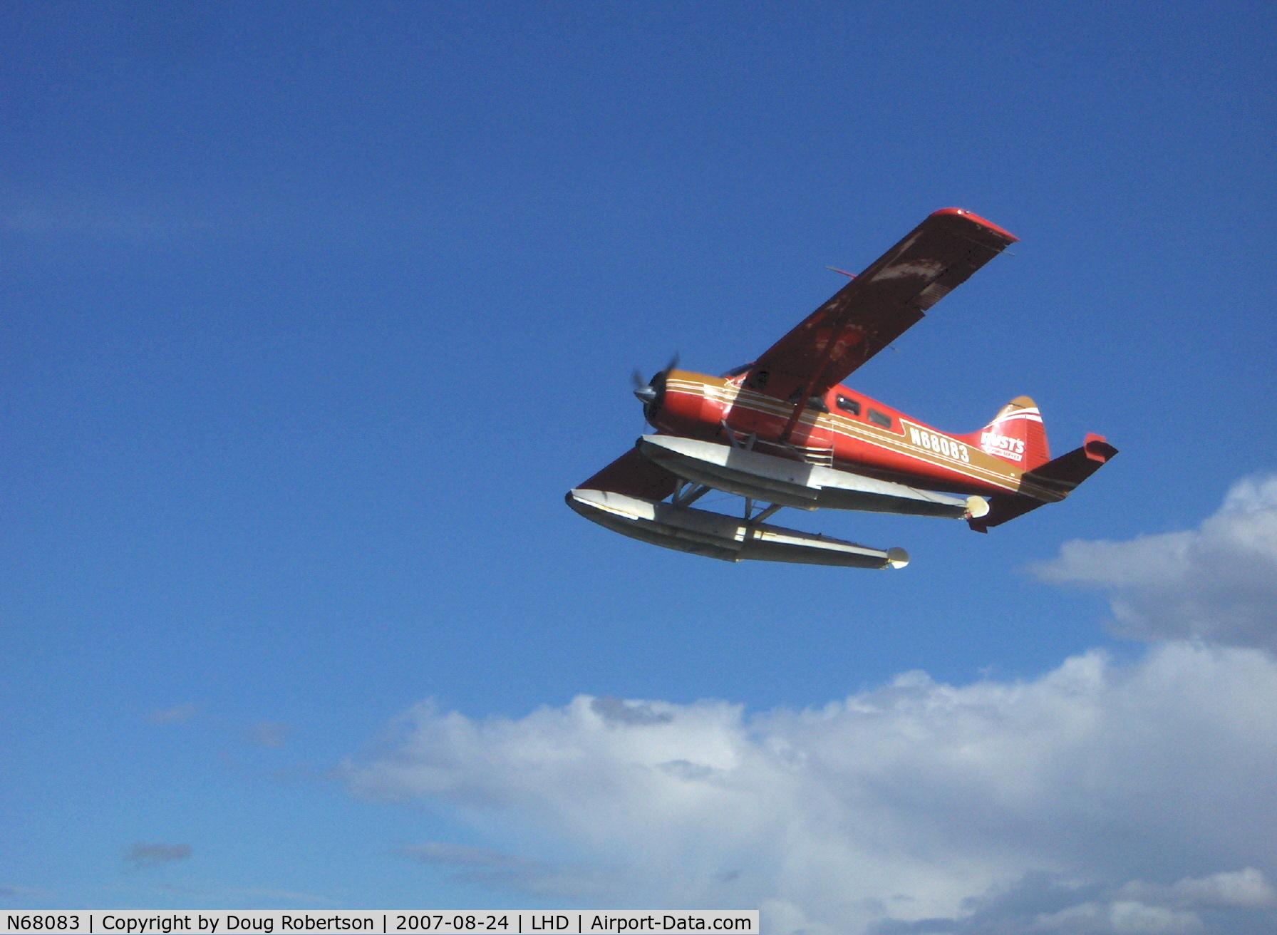 N68083, 1958 De Havilland Canada DHC-2 Beaver Mk.I C/N 1254, 1958 DeHavilland BEAVER DHC-2 Mk.1, P&W R-985 450 Hp, of Rust Air, Multiple certification, takeoff climb
