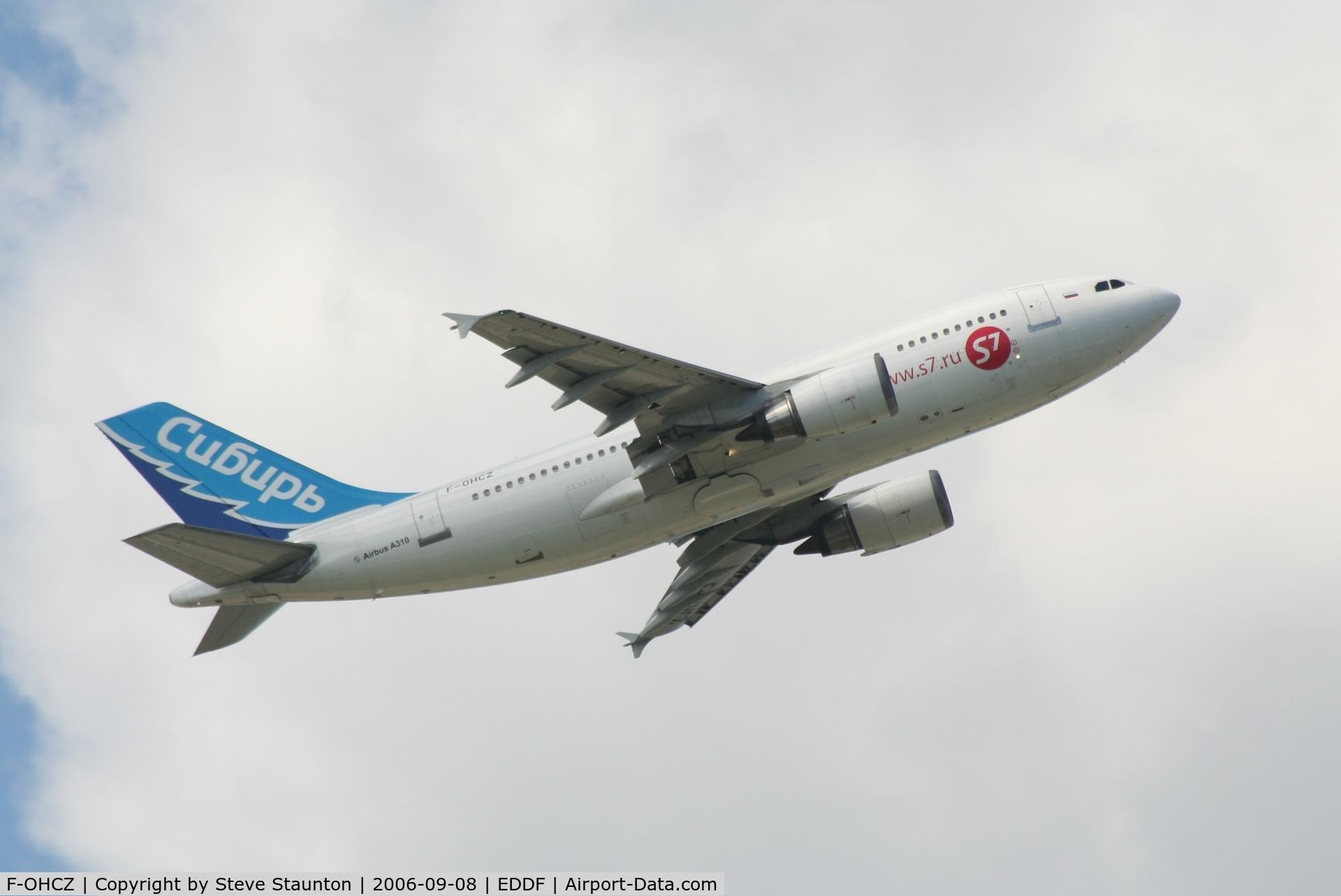 F-OHCZ, 1988 Airbus A310-304/ET C/N 475, Taken at Frankfurt September 2006