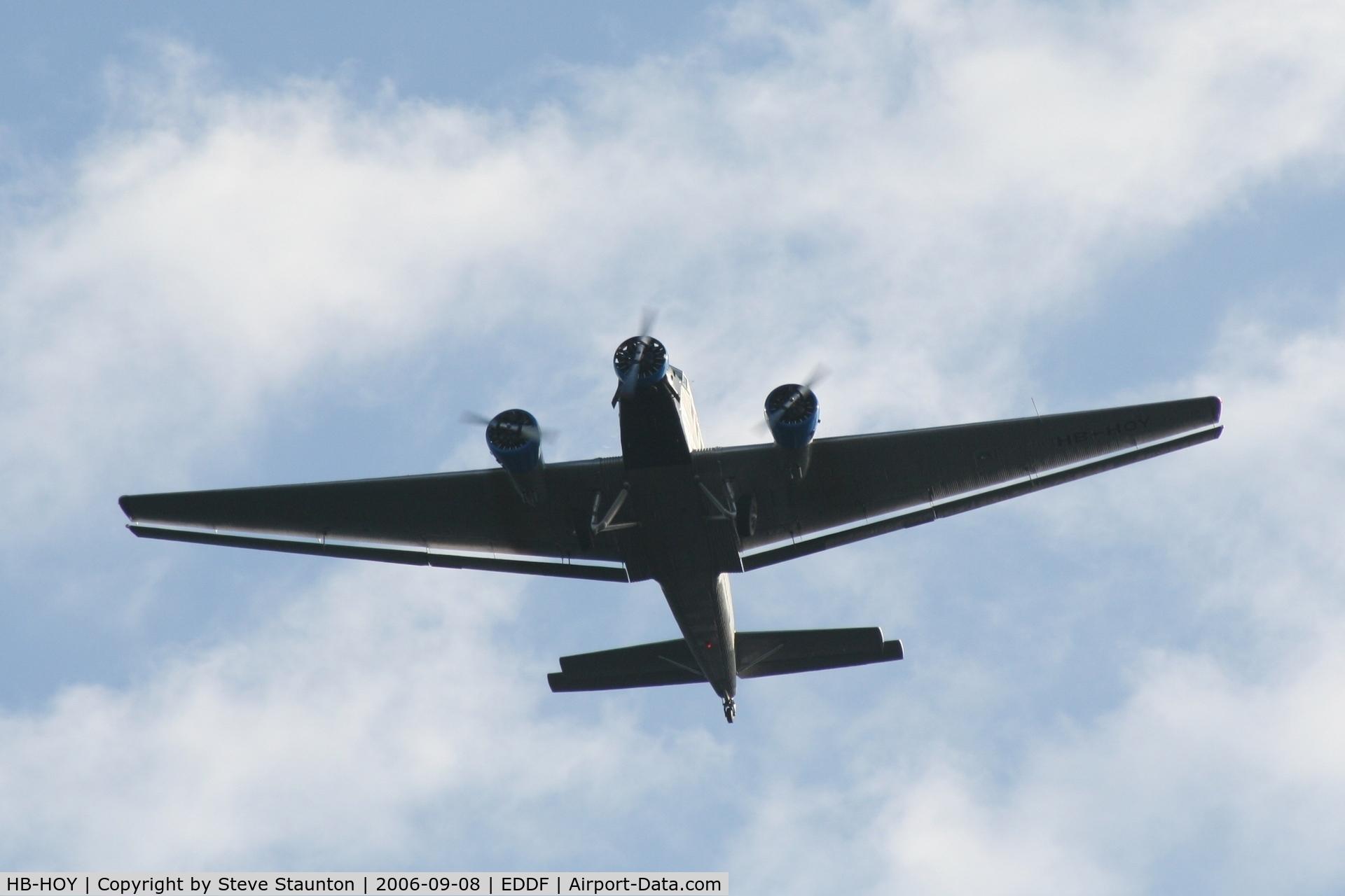 HB-HOY, 1949 Junkers (CASA) 352A-3 (Ju-52) C/N 96, Taken at Frankfurt September 2006
