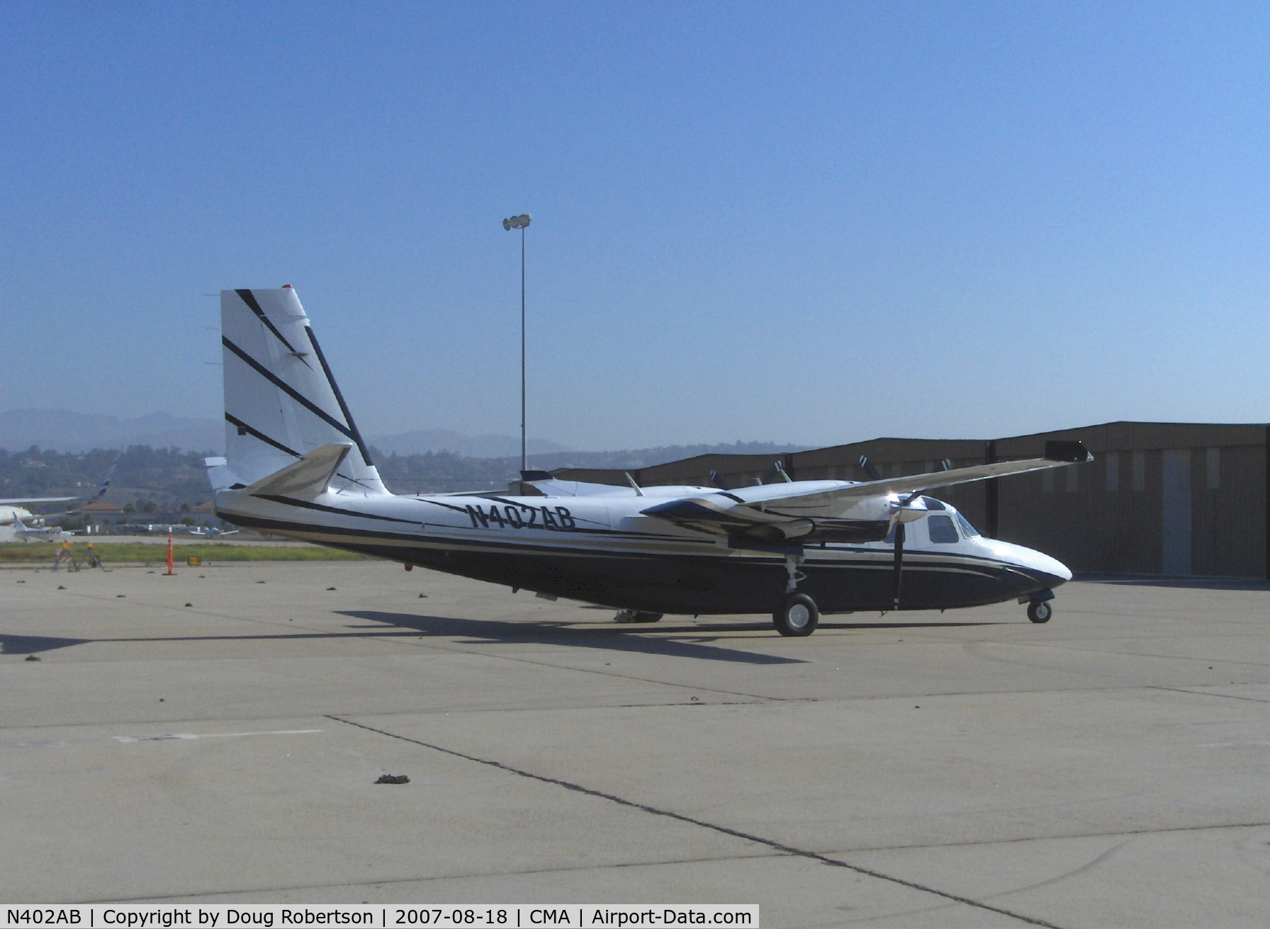 N402AB, Rockwell International 690C C/N 11659, 1985 Rockwell TURBO COMMANDER 690C, two Airesearch TPE331--5&6 700 shp turboprops