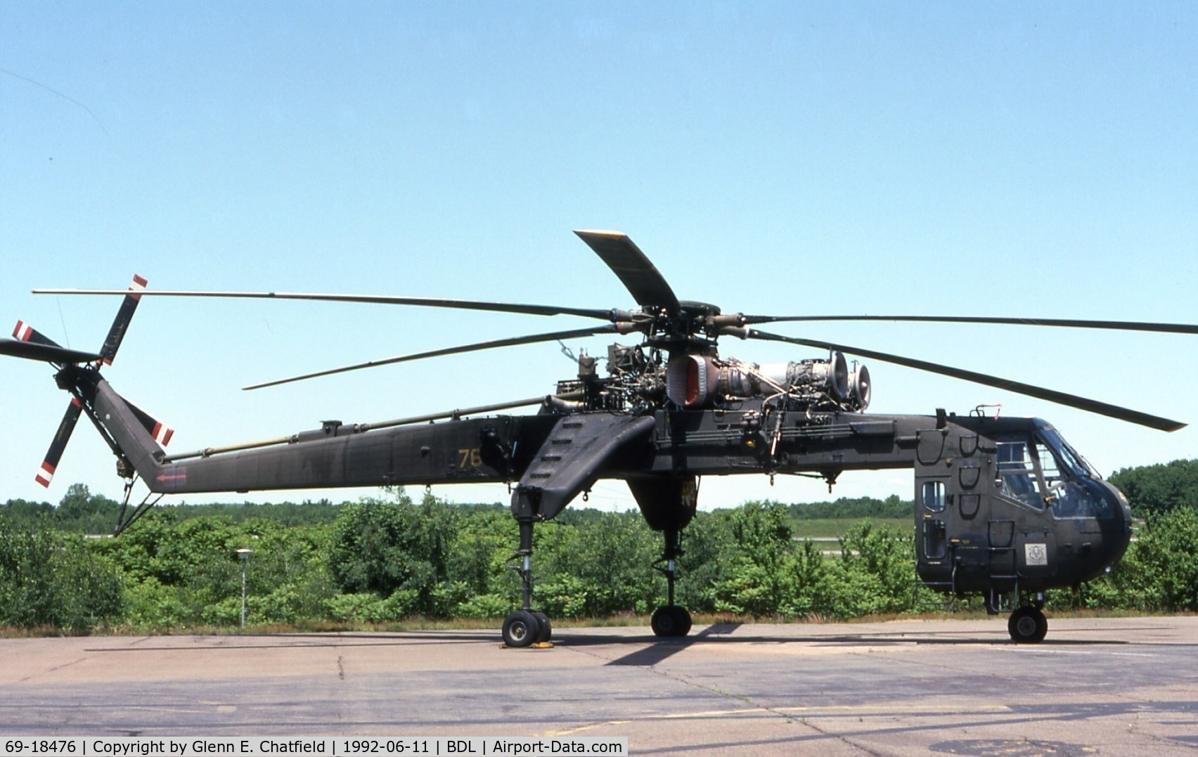 69-18476, 1970 Sikorsky S-64F Skycrane C/N 64084, When active as CH-54B 69-18476