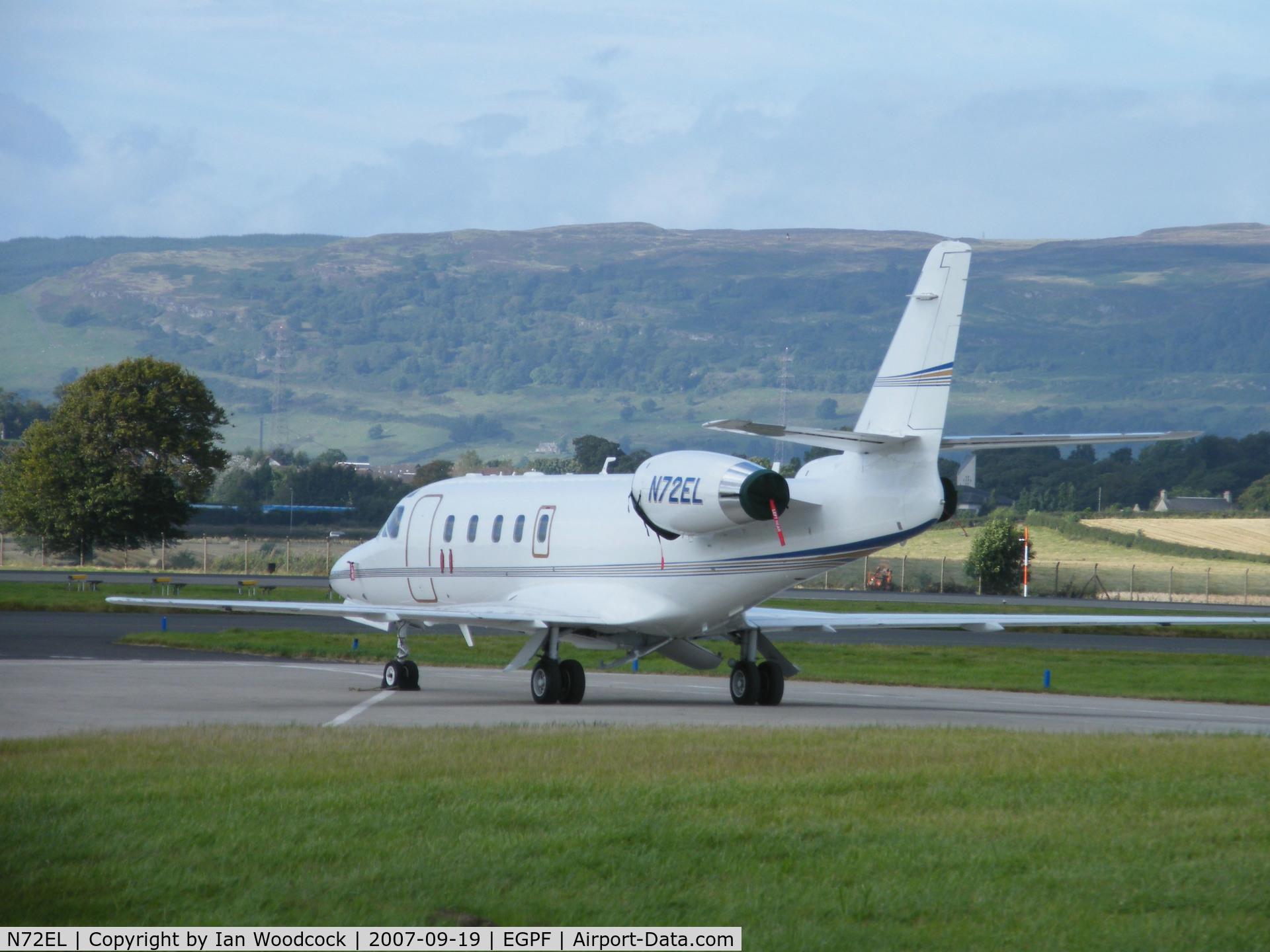 N72EL, 1986 Israel Aircraft Industries IAI-1125 Westwind Astra C/N 018, IAI Astra/Area R/Glasgow