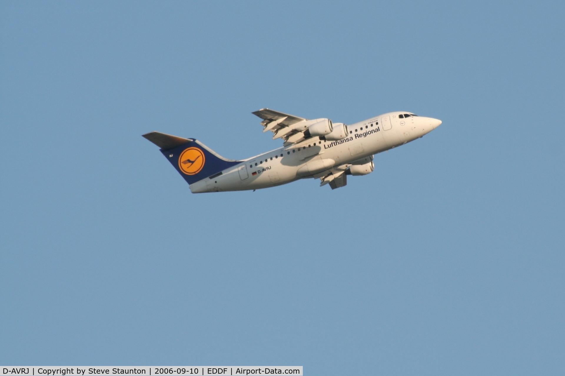 D-AVRJ, 1996 British Aerospace Avro 146-RJ85 C/N E.2277, Taken at Frankfurt September 2006