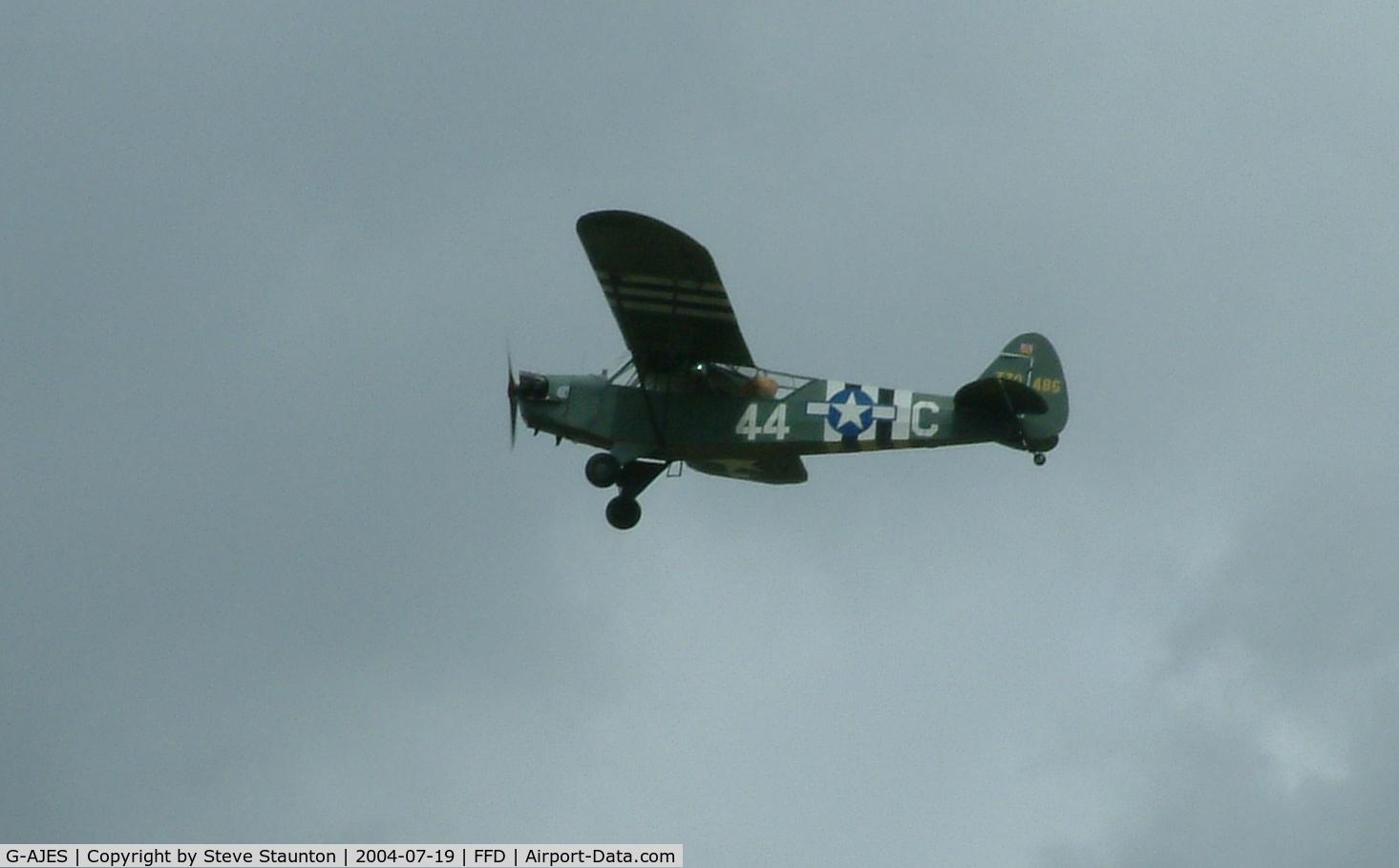 G-AJES, 1943 Piper L-4J Grasshopper (J3C-65D) C/N 11602, Royal International Air Tattoo 2004