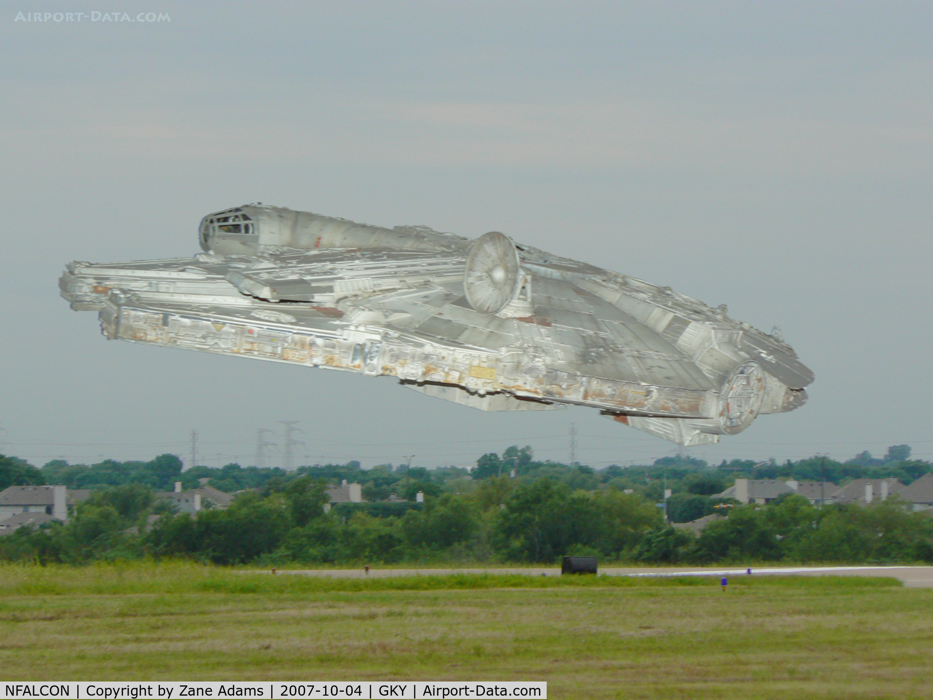NFALCON, 2060 Corellian Engineering Corporation YT-1300 freighter C/N THX1138, Takeoff from Arlington Muni??? :)