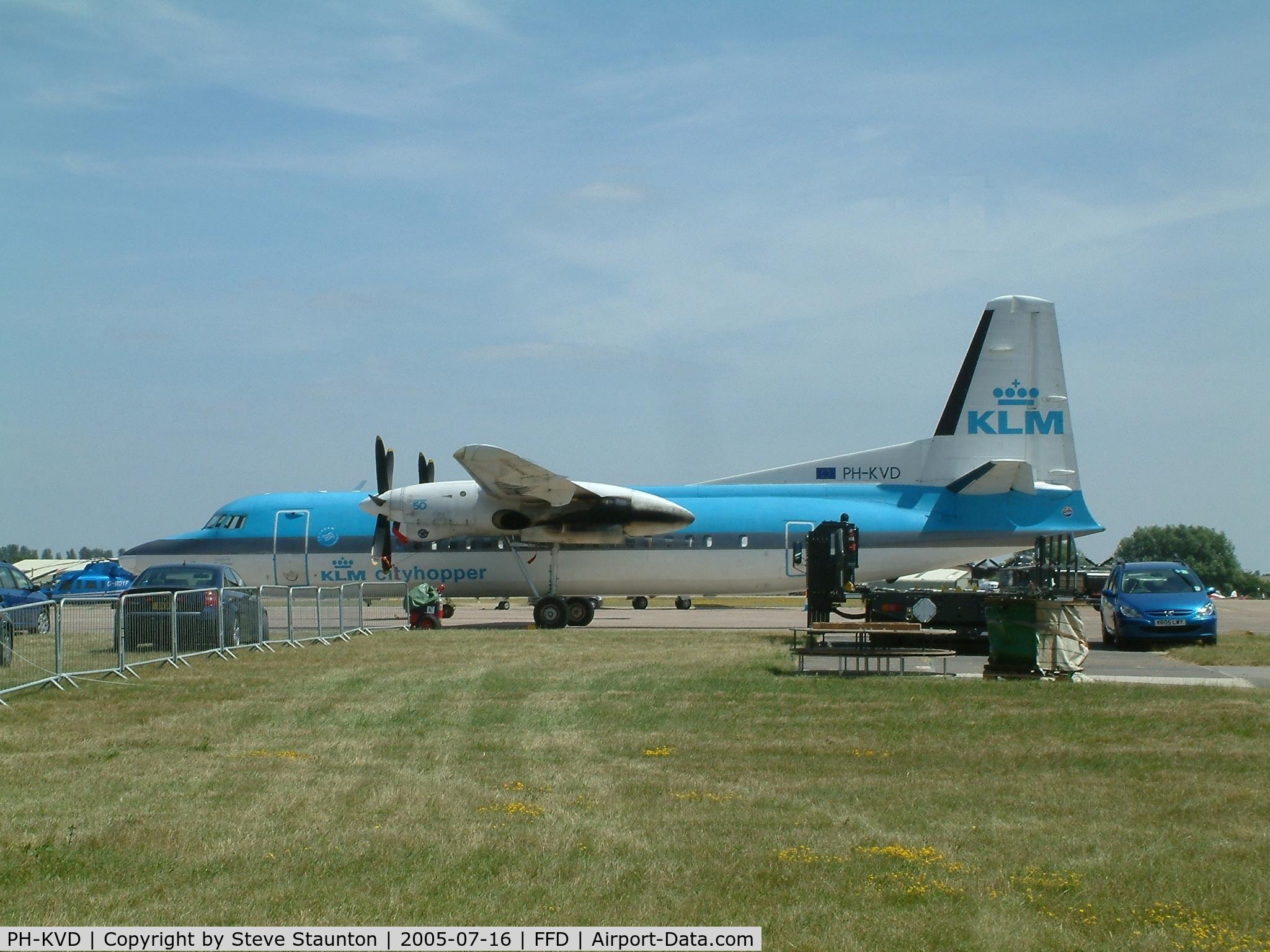 PH-KVD, 1990 Fokker 50 C/N 20197, Royal International Air Tattoo 2005