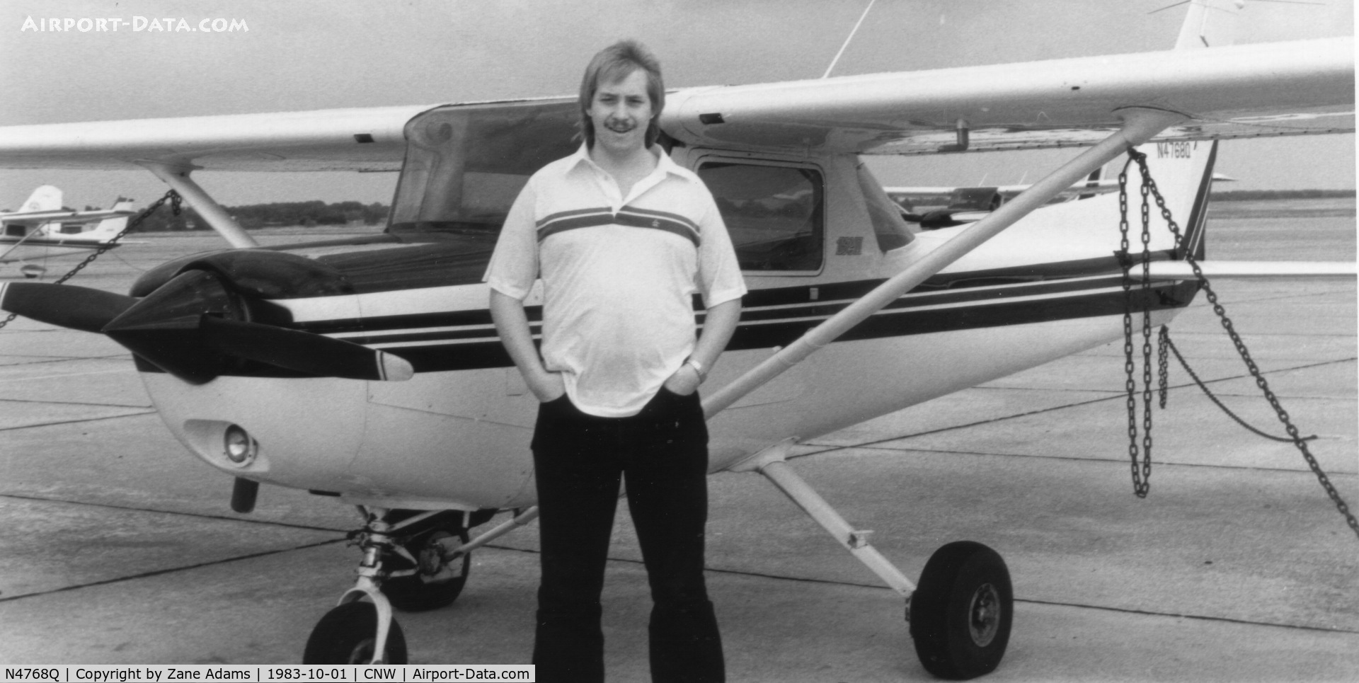 N4768Q, Cessna 152 C/N 152-85061, Me and my first solo buddy  - 4786Q @ 1983