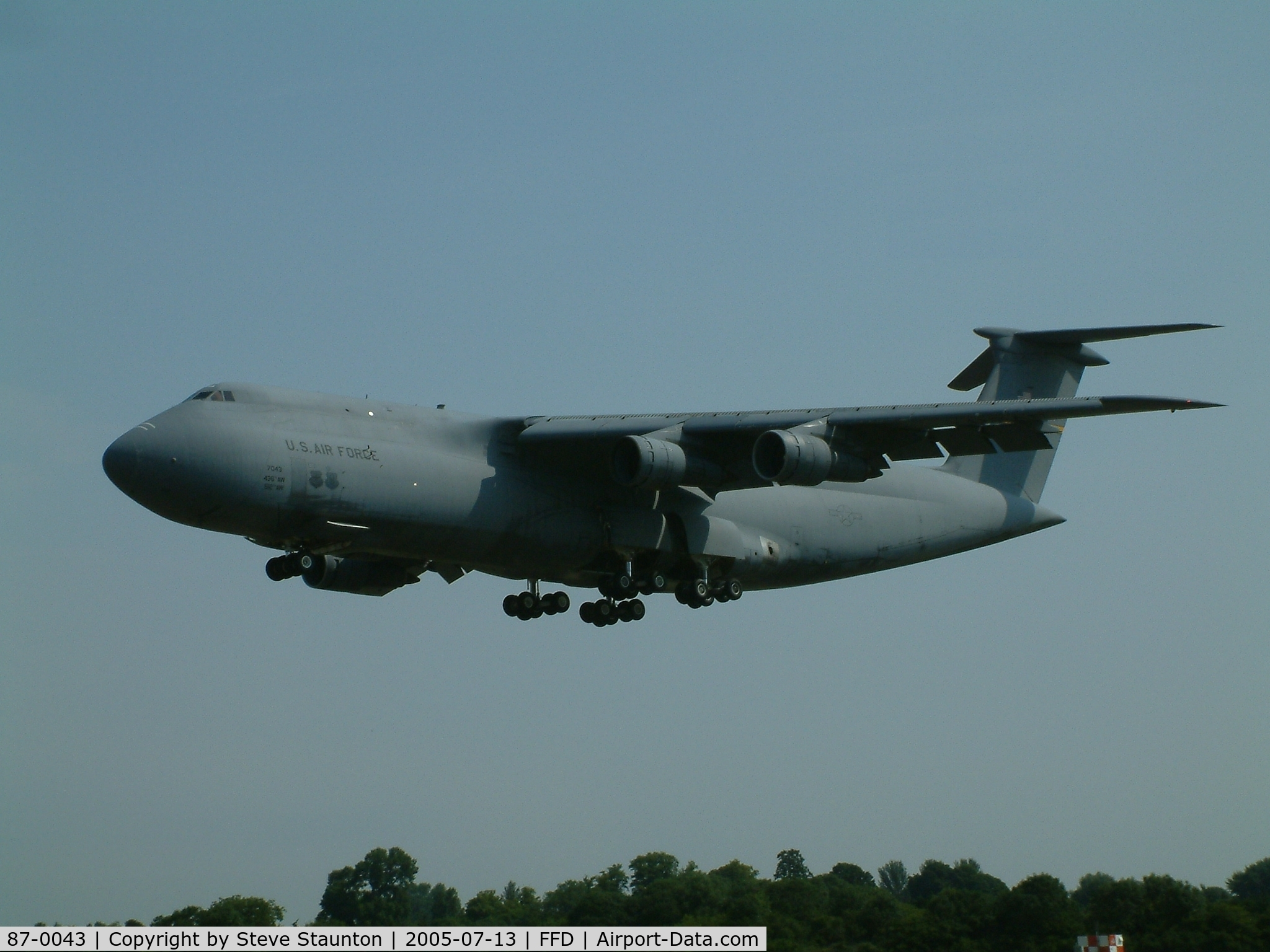 87-0043, 1987 Lockheed C-5B Galaxy C/N 500-0129, Royal International Air Tattoo 2005