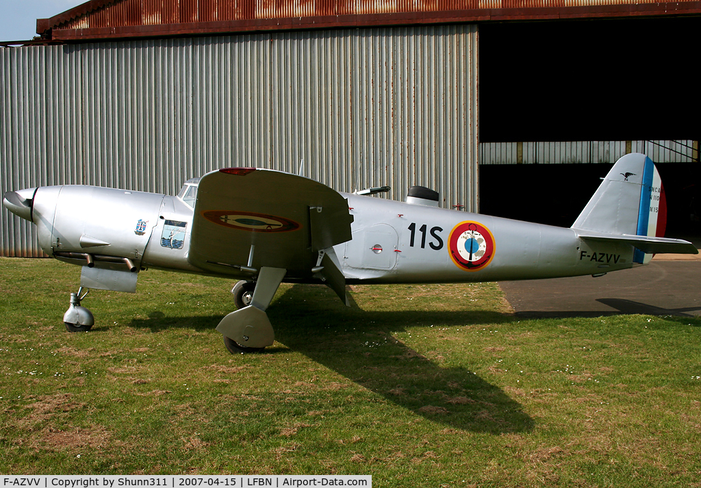 F-AZVV, 1959 Nord 1101 Noralpha C/N 15, First engine test after winter maintenance for this very oldest plane...