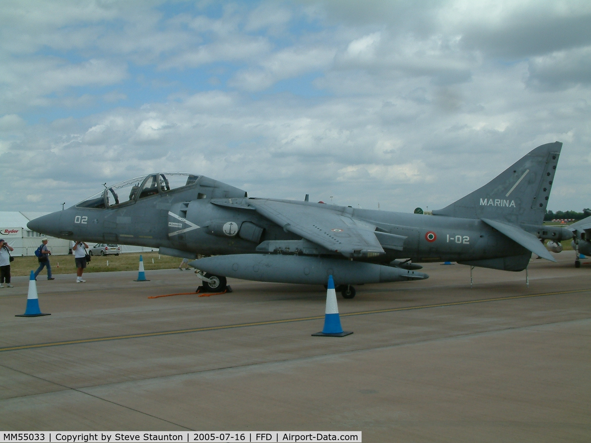 MM55033, McDonnell Douglas TAV-8B Harrier II C/N T020, Royal International Air Tattoo 2005