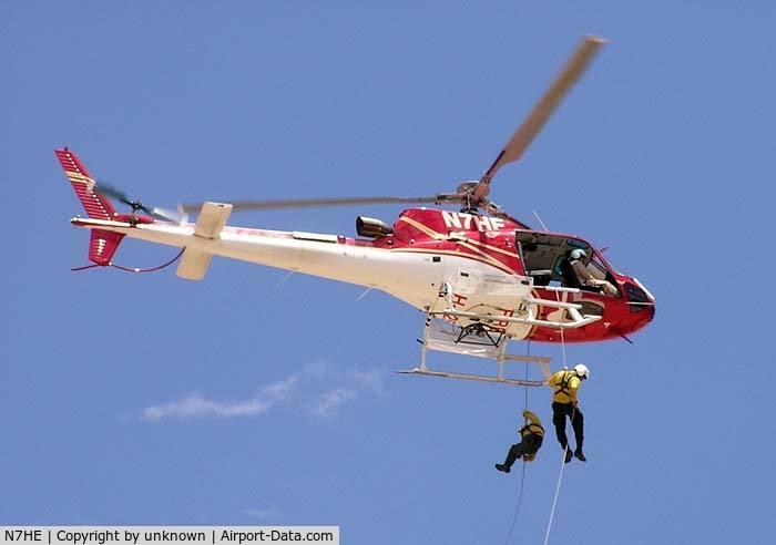 N7HE, 2000 Eurocopter AS-350B-3 Ecureuil C/N 3269, Helirappel training