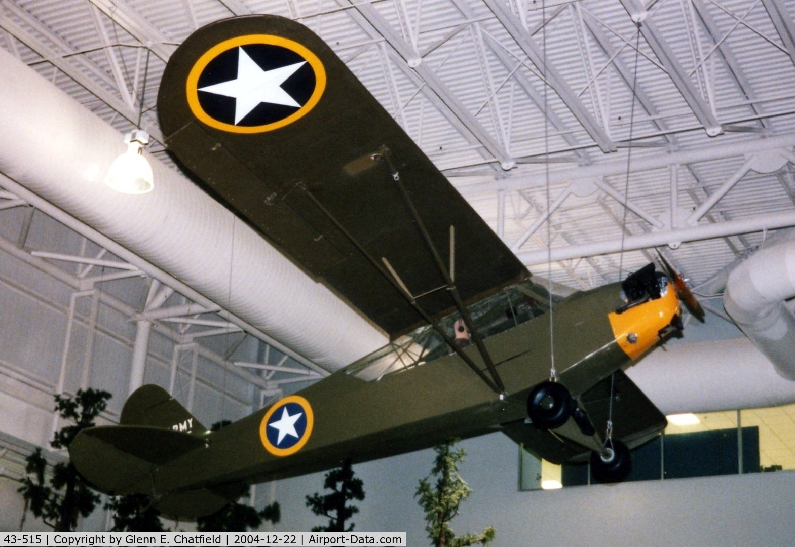 43-0515, 1943 Piper L-4B Grasshopper C/N 9376, L-4B at the Army Aviation Museum