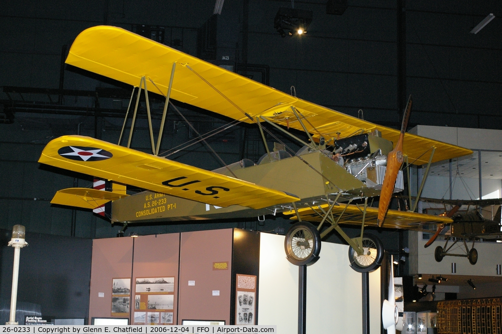 26-0233, 1926 Consolidated PT-1 Trusty C/N Not found 26-0233, PT-1 at the National Museum of the U.S. Air Force