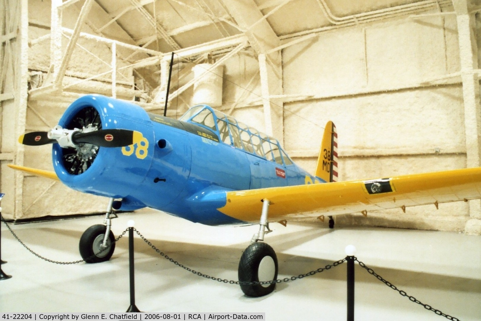 41-22204, 1941 Vultee BT-13A Valiant C/N 74-6124, BT-13A at the South Dakota Air & Space Museum