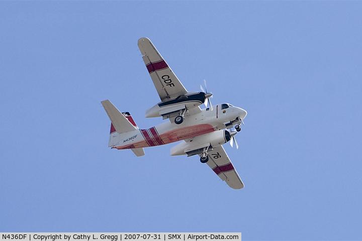N436DF, 2001 Marsh Aviation S-2F3AT C/N 152337, Taken at Santa Maria Airport during the Zaca Fire