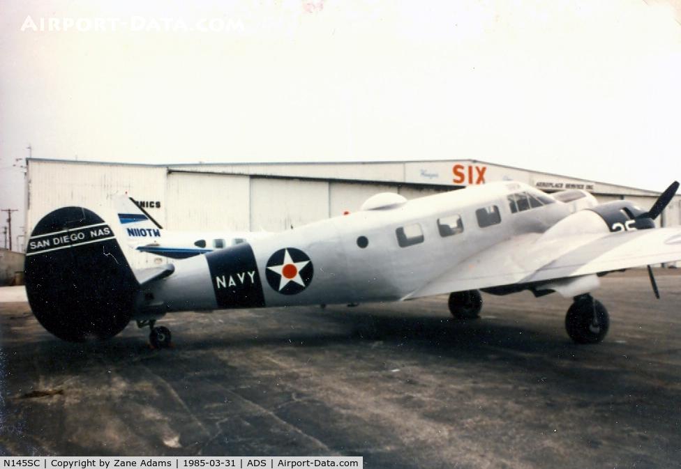 N145SC, 1943 Beech SNB-1 C/N 3906, At Addison Airport, Dallas, Texas