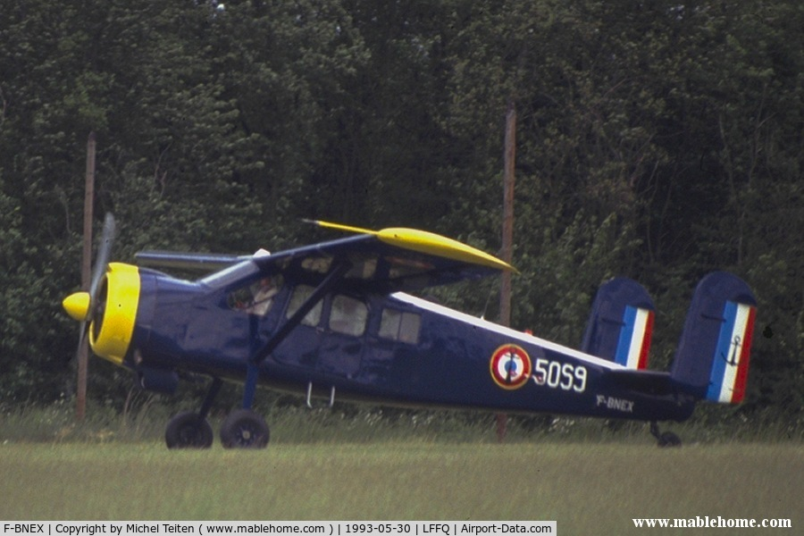 F-BNEX, 1958 Max Holste MH-1521C-1 Broussard C/N 108, Wearing the colors of the 50.S squadron from French Navy