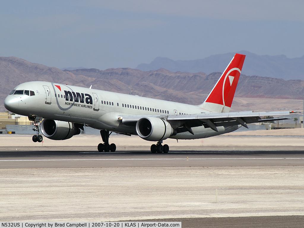 N532US, 1988 Boeing 757-251 C/N 24263, Northwest Airlines / 1988 Boeing 757-251