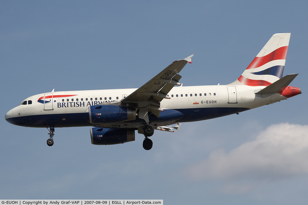 G-EUOH, 2001 Airbus A319-131 C/N 1604, British Airways A319