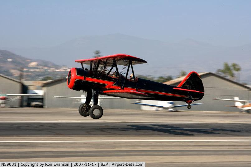 N59031, 1941 Boeing A75N1(PT17) C/N 75-3808, Stearman