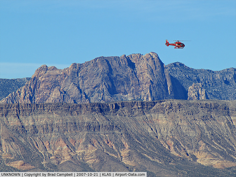 UNKNOWN, Helicopters Various C/N unknown, Red Rock Canyon in background