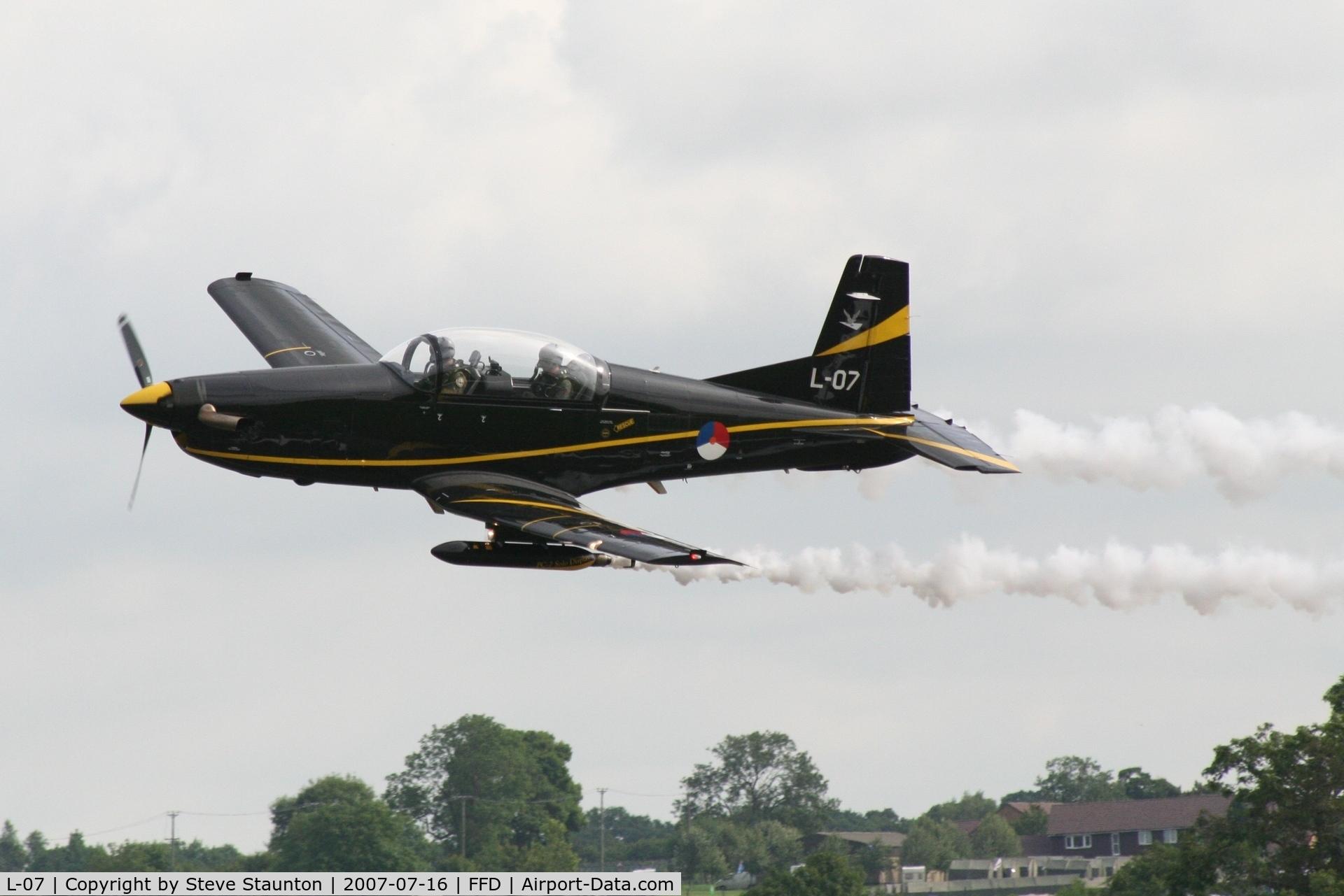 L-07, Pilatus PC-7 Turbo Trainer C/N 544, Royal International Air Tattoo 2007