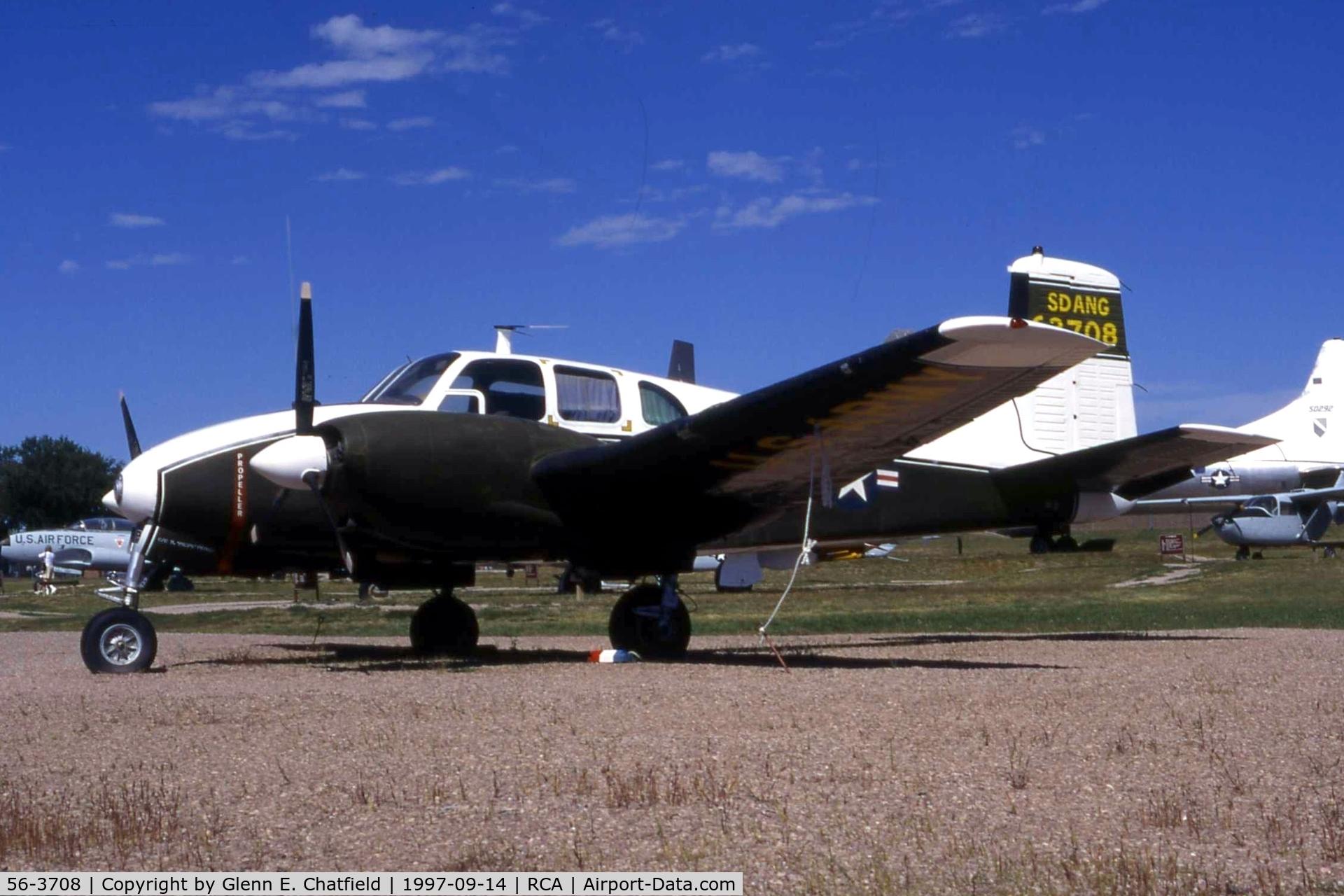56-3708, 1957 Beechcraft L-23D C/N 109, U-8D at the South Dakota Air & Space Museum