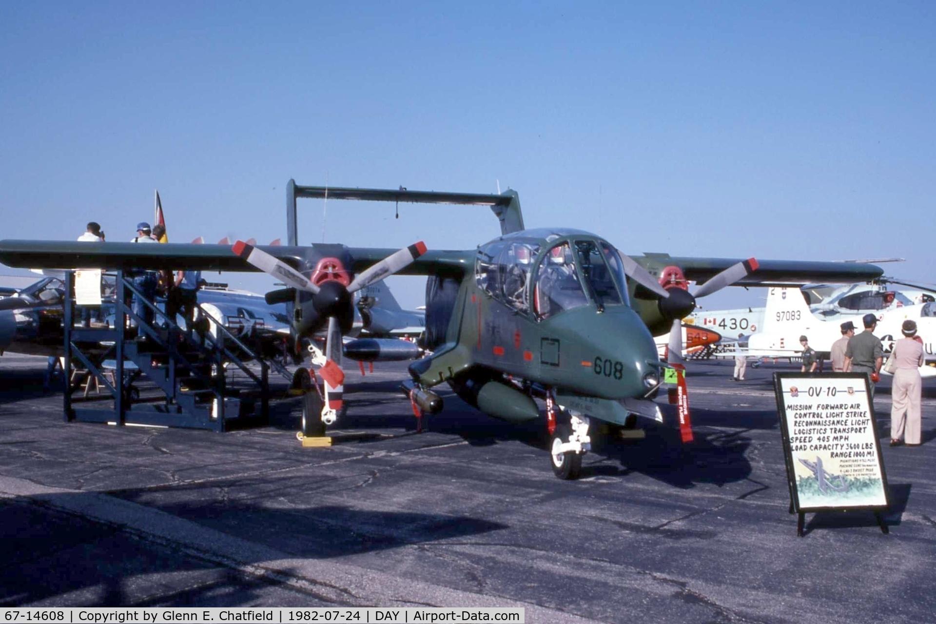 67-14608, 1967 North American Rockwell OV-10A Bronco C/N 305A-16,  At the Dayton International Air Show.
