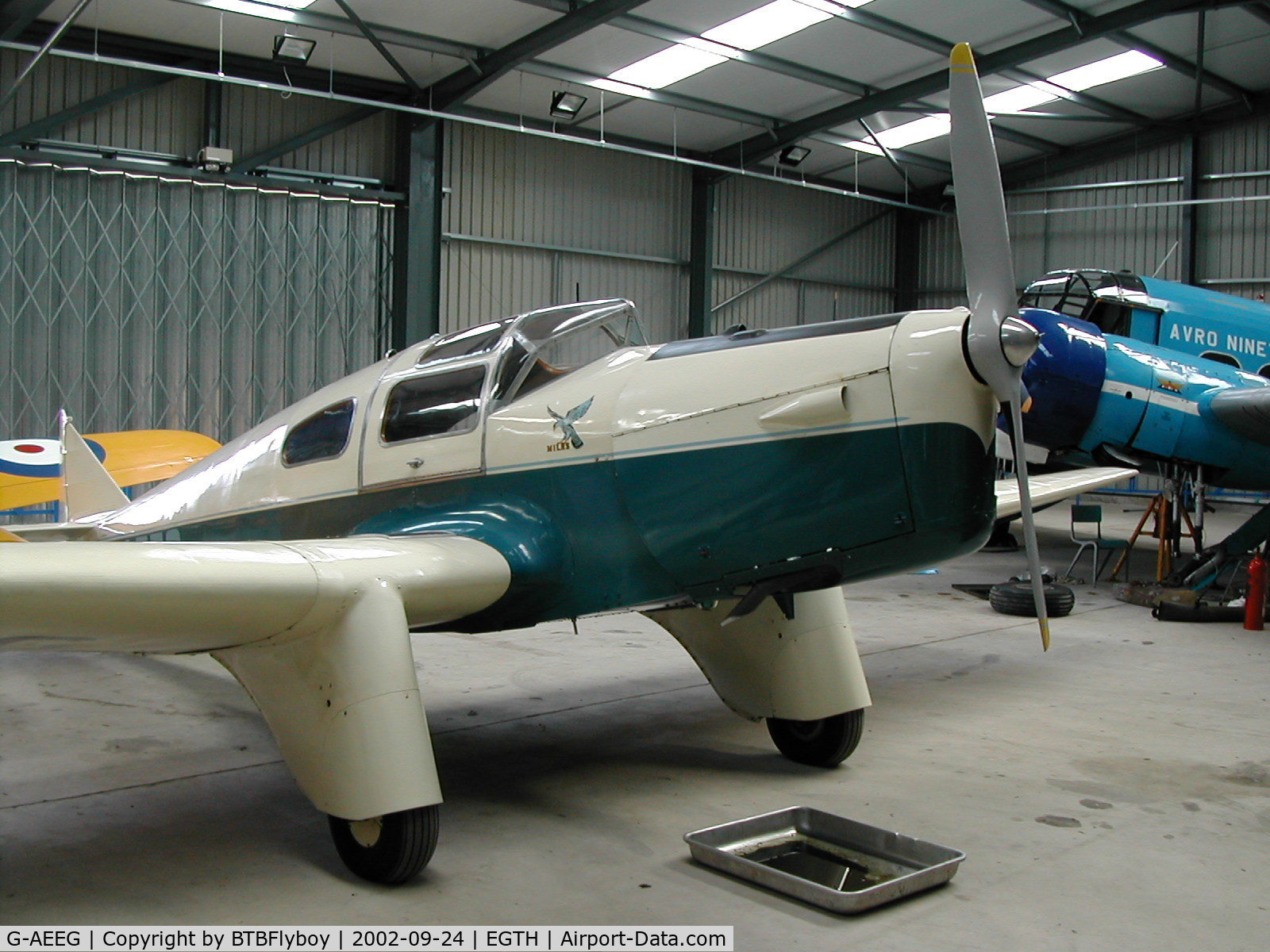 G-AEEG, 1936 Miles M-3A Falcon Major C/N 216, On display at the Shuttleworth collection Old Warden Aerodrome