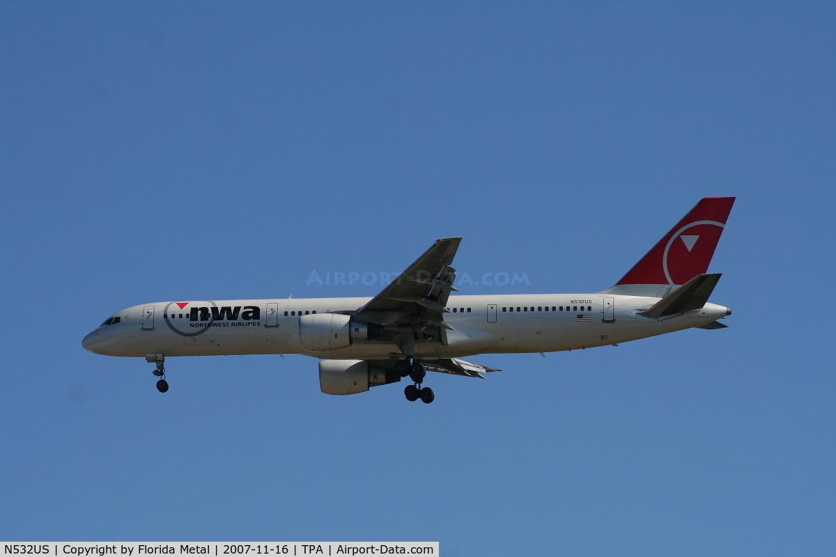 N532US, 1988 Boeing 757-251 C/N 24263, Northwest