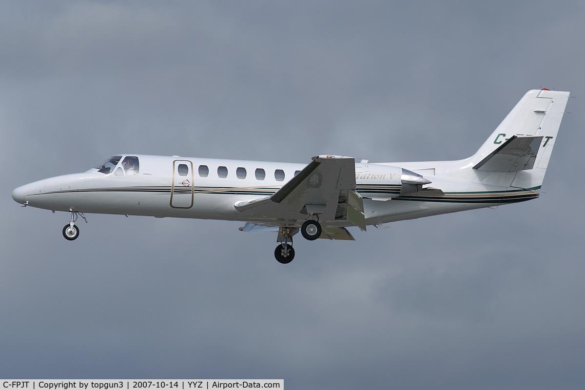 C-FPJT, 1989 Cessna 560 Citation Ultra C/N 560-0017, Short final for RWY23.