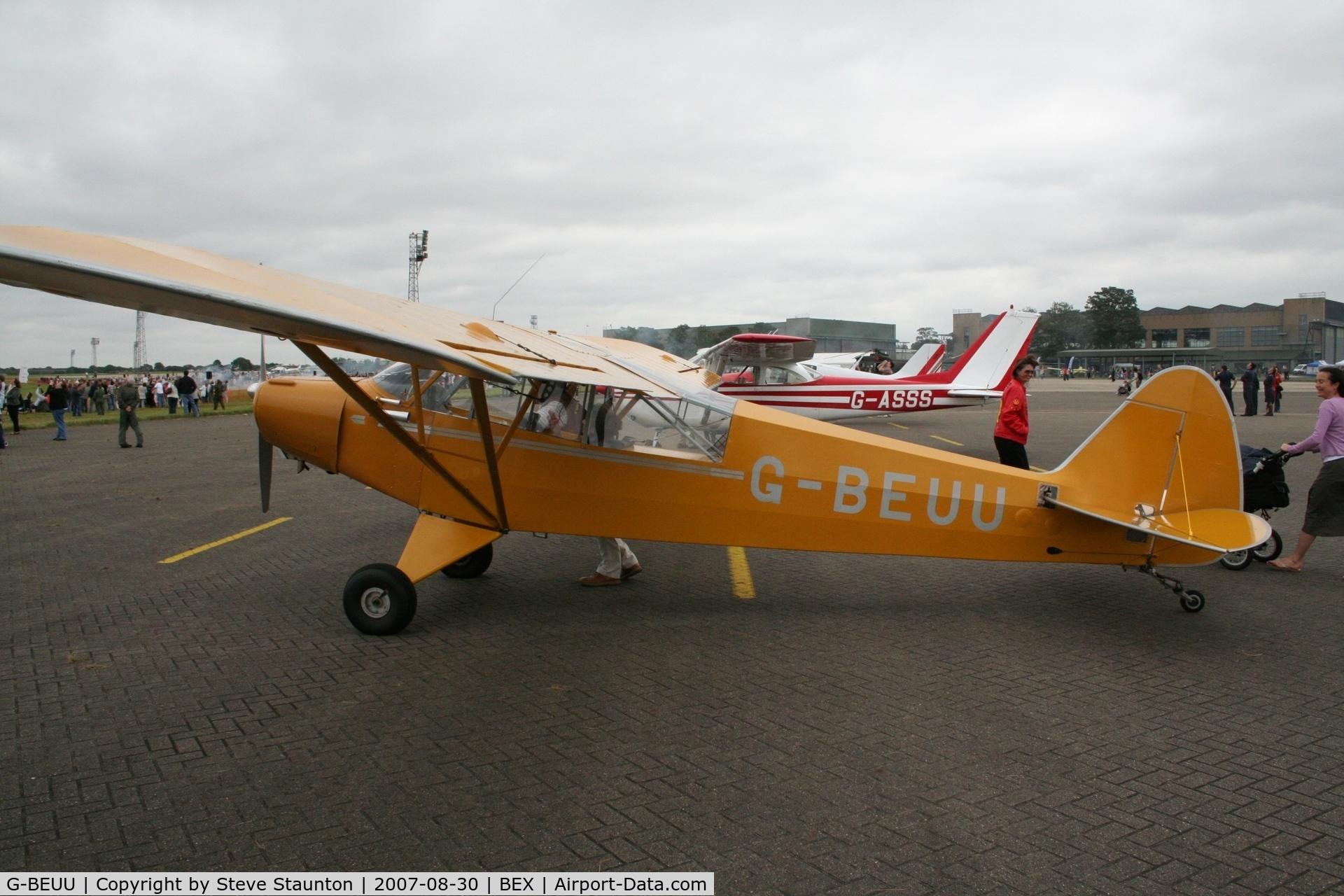 G-BEUU, 1951 Piper L-18C Super Cub (PA-18-95) C/N 18-1551, RAF Benson Families Day, RAF Benson, Oxfordshire, England - August 2007