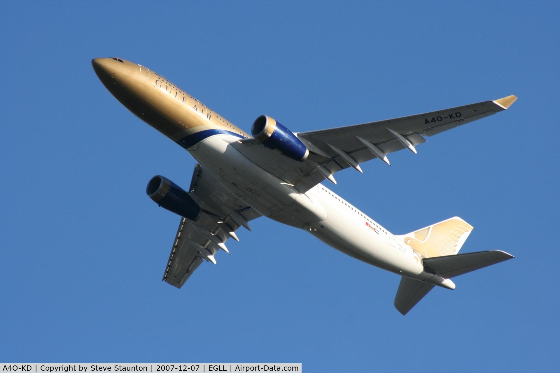 A4O-KD, 1999 Airbus A330-243 C/N 287, Taken at Heathrow Airport 07 December 2007