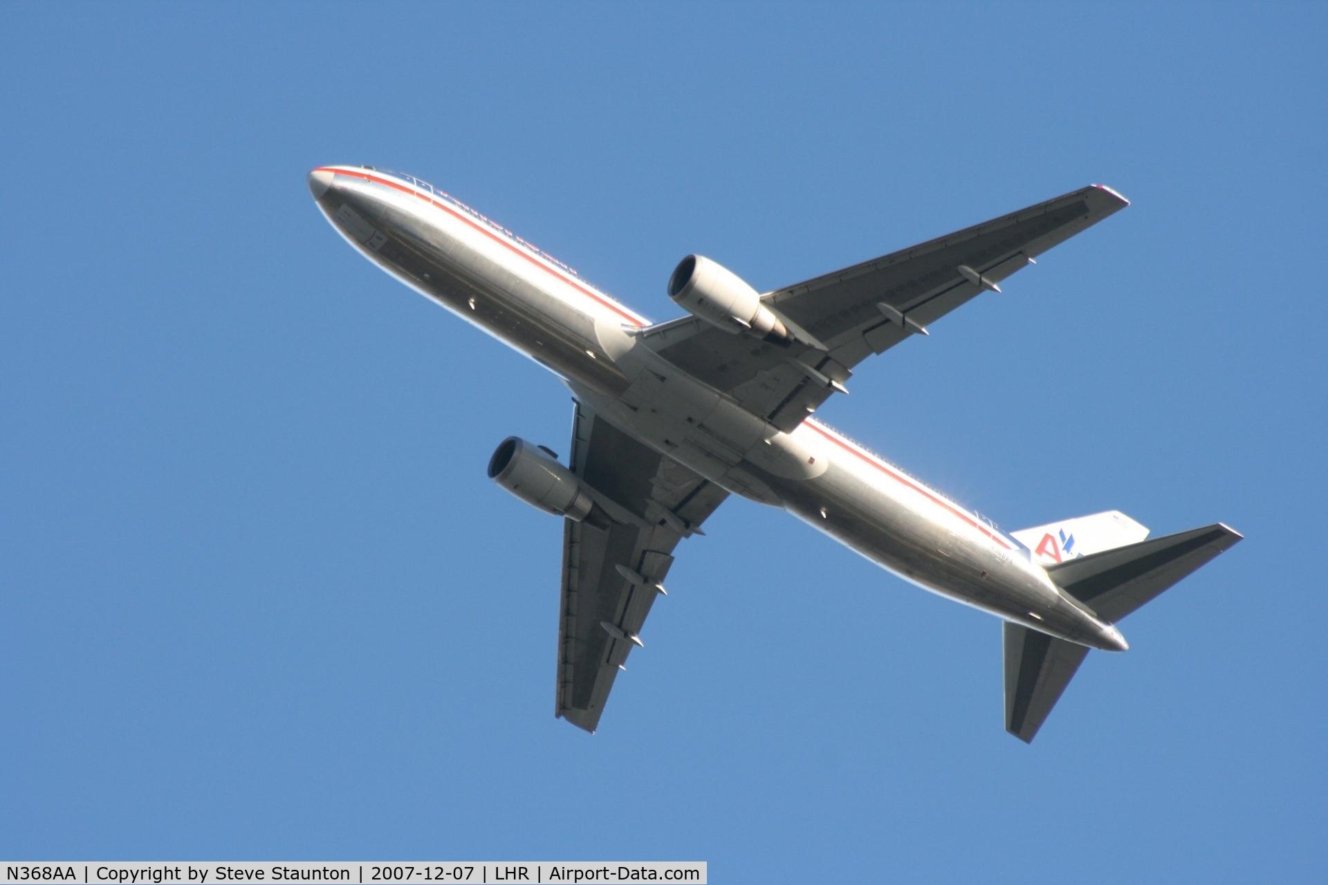N368AA, 1991 Boeing 767-323 C/N 25195, Taken at Heathrow Airport 07 December 2007