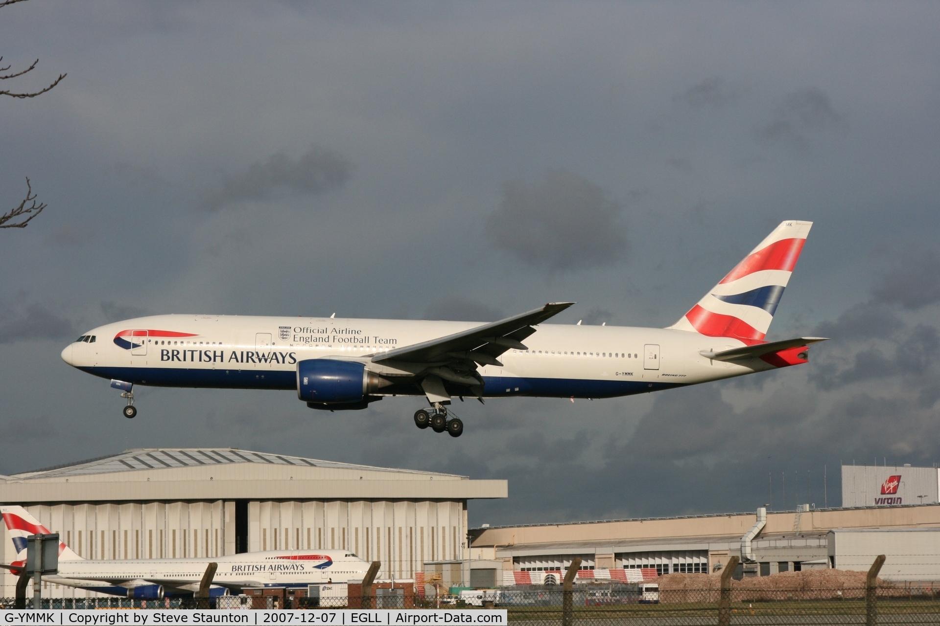 G-YMMK, 2000 Boeing 777-236 C/N 30312, Taken at Heathrow Airport 07 December 2007
