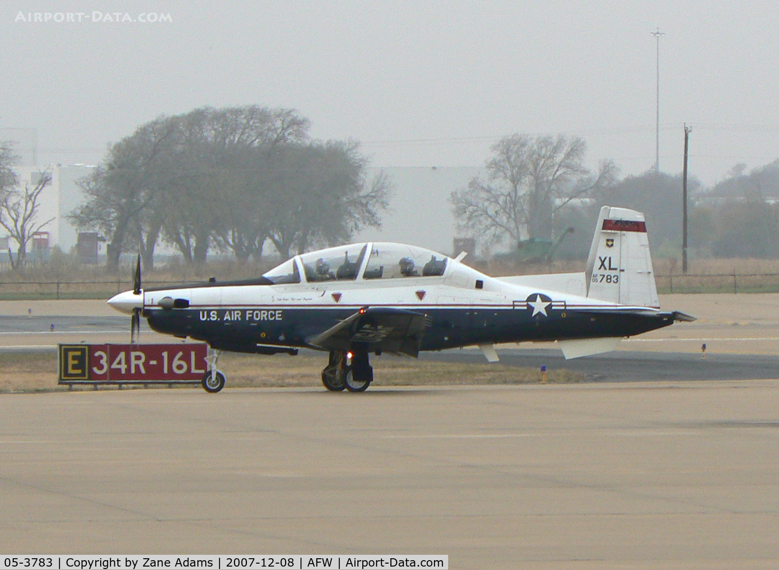 05-3783, Raytheon T-6A Texan II C/N PT-335, On the ramp at Alliance Ft. Worth