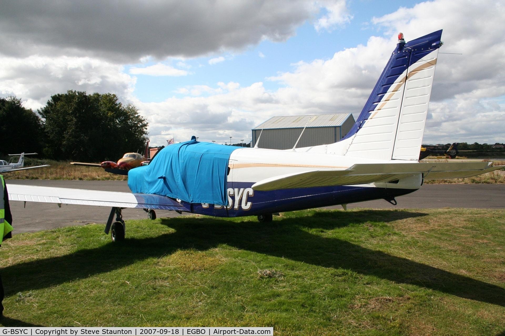 G-BSYC, 1977 Piper PA-32R-300 Cherokee Lance C/N 32R-7780159, Taken at Halfpenny Green 18th September 2007