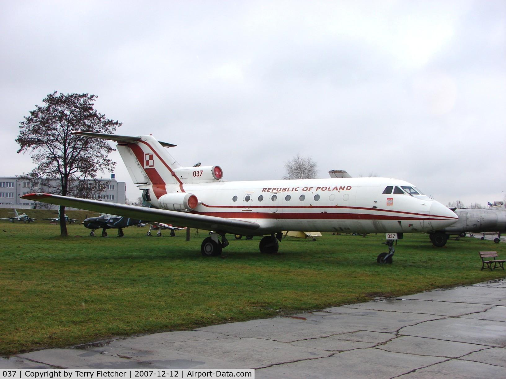 037, Yakovlev Yak-40 C/N 9510238, ex Polish AF Yakovlev 40 c/n 9510238 preserved at the Poland Aviation Museum in Krakow