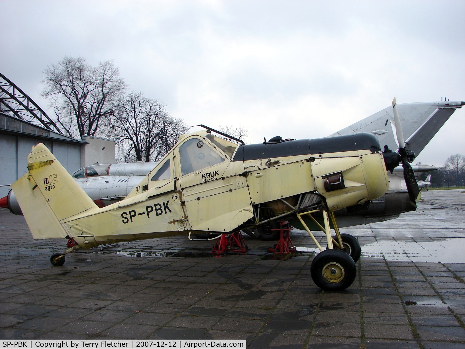 SP-PBK, PZL-Okecie PZL-106 Kruk C/N 05005, Awaiting re-assembly at the Poland Aviation Museum in Krakow