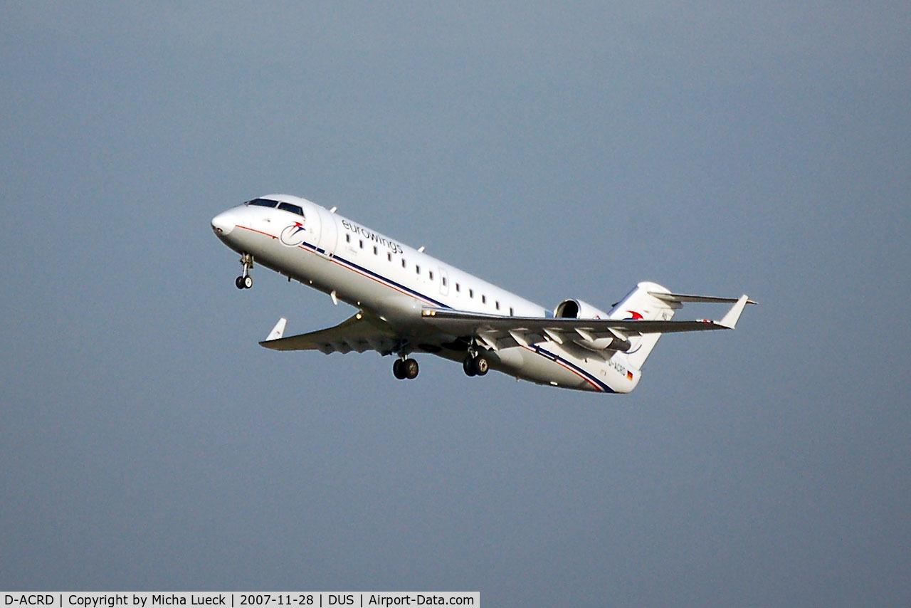 D-ACRD, Canadair CRJ-200ER (CL-600-2B19) C/N 7583, Climbing out of Duesseldorf