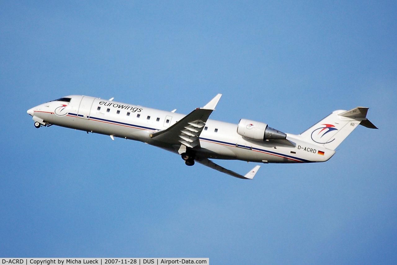D-ACRD, Canadair CRJ-200ER (CL-600-2B19) C/N 7583, bye bye Duesseldorf