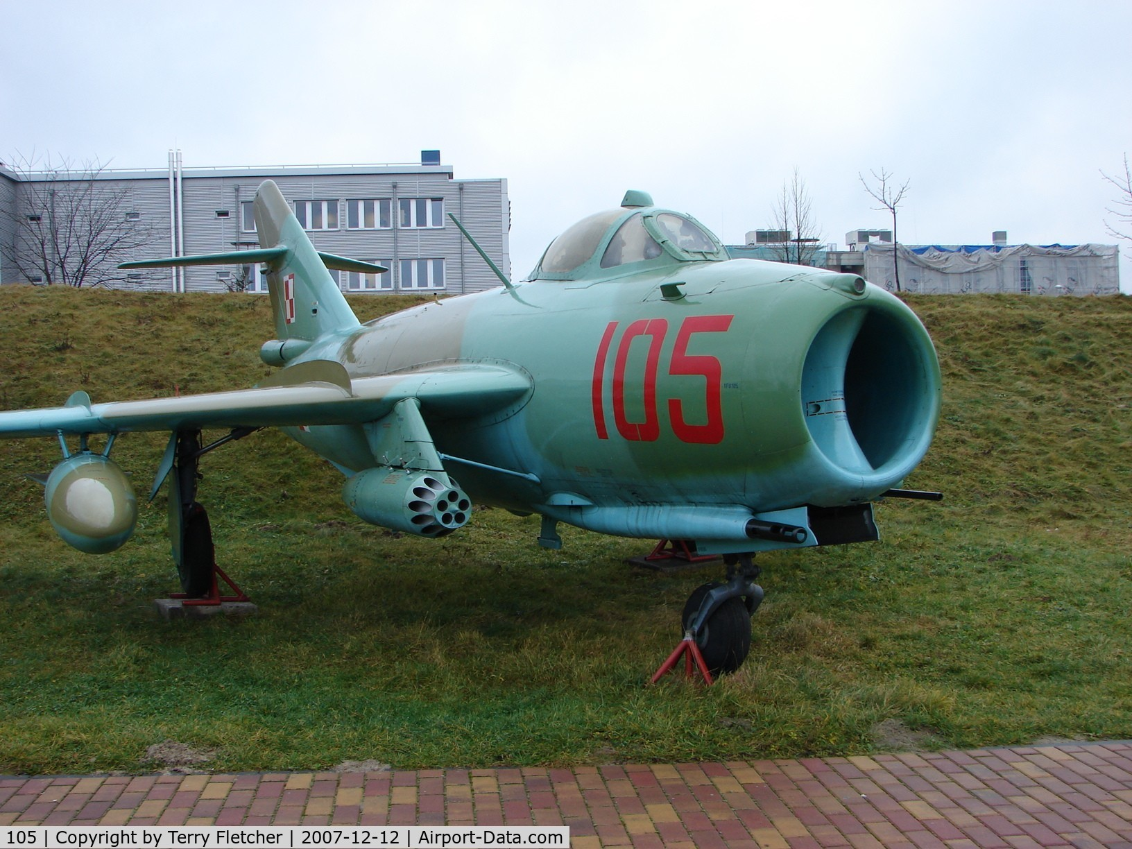 105, PZL-Mielec Lim-6bis C/N 1F-0105, Another angle showing the artillery of the Polish Lim 6Bis