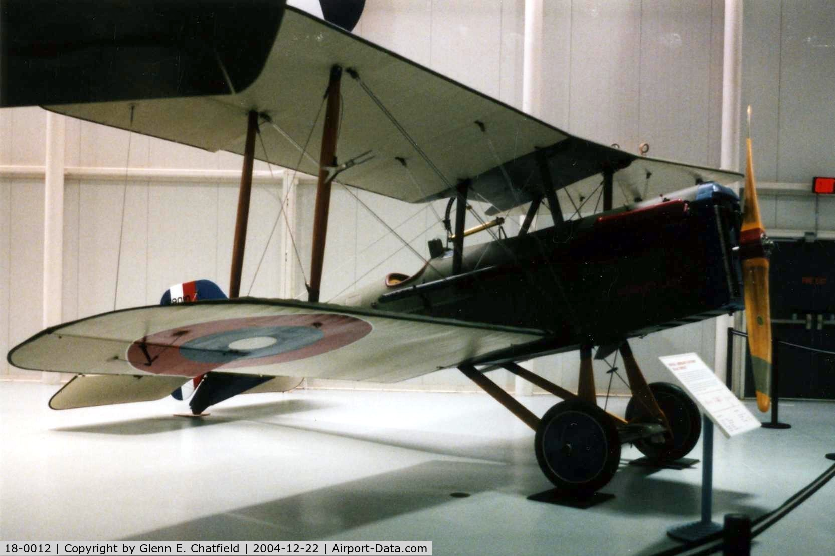 18-0012, 1918 Curtiss SE.5A C/N F8010, S.E. 5A at the Army Aviation Museum