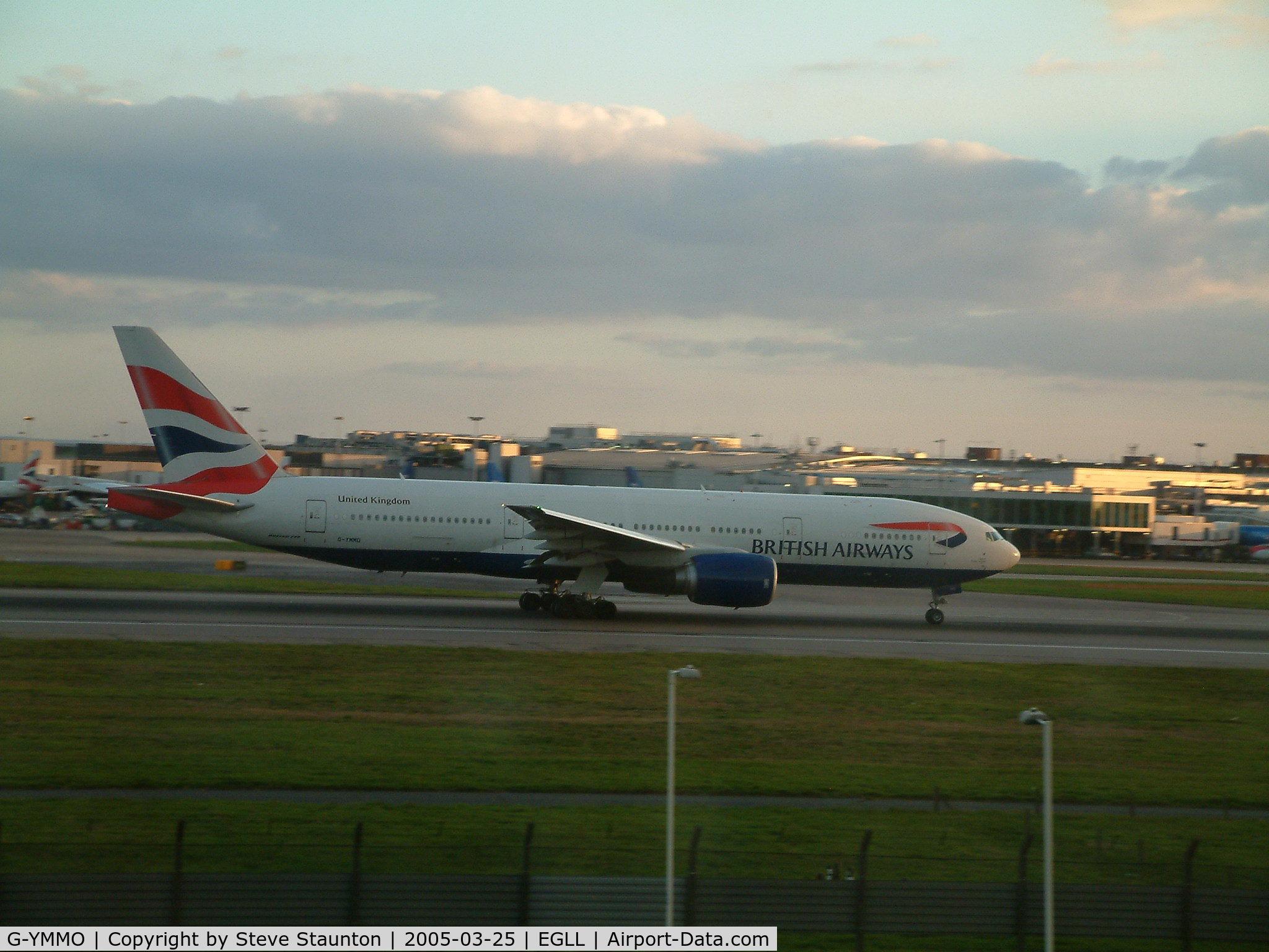 G-YMMO, 2001 Boeing 777-236 C/N 30317, Taken at Heathrow Airport March 2005
