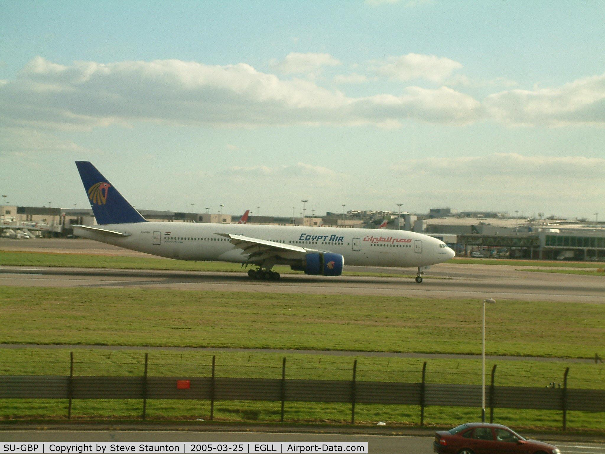 SU-GBP, 1997 Boeing 777-266/ER C/N 28423, Taken at Heathrow Airport March 2005
