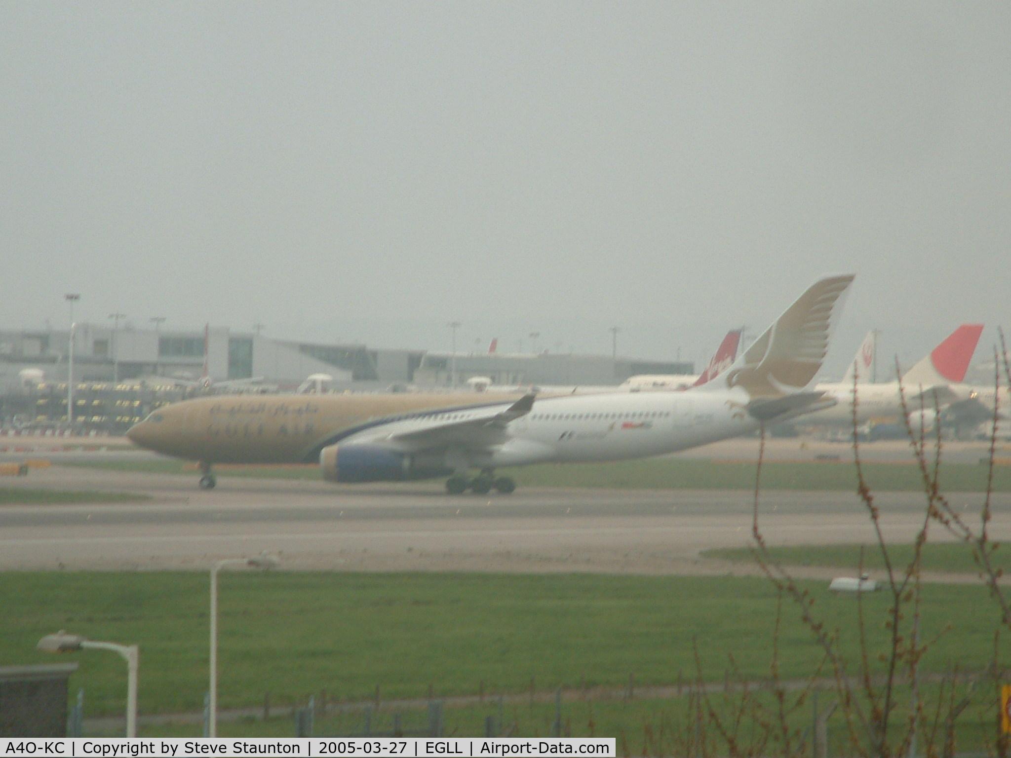 A4O-KC, 1999 Airbus A330-243 C/N 286, Taken at Heathrow Airport March 2005
