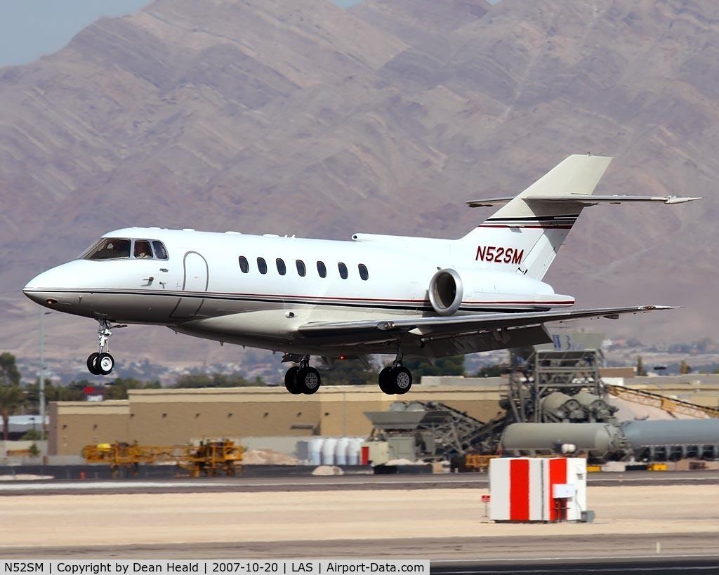N52SM, 1992 British Aerospace BAe.125-1000A C/N 259010/NA1009, Sierra Pacific Industries BAE125 Series 1000A N52SM landing on RWY 25L.