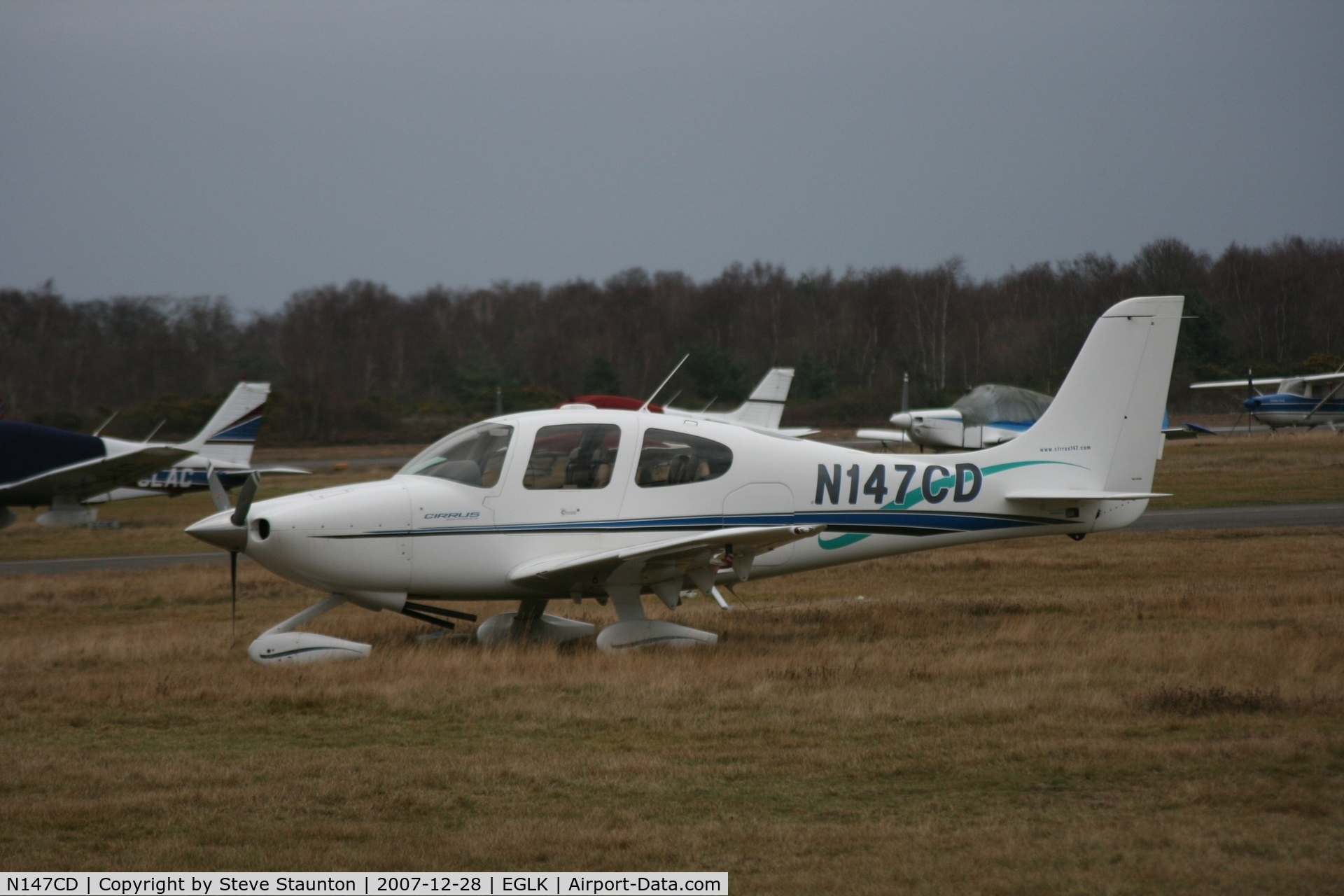 N147CD, 2000 Cirrus SR20 C/N 1043, Taken at Blackbushe Airport 28th December 2007