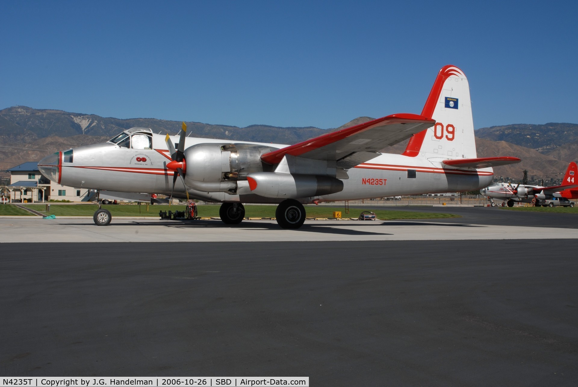 N4235T, 1962 Lockheed SP-2H C/N 150282, ex BuNo 150282 after fire drop